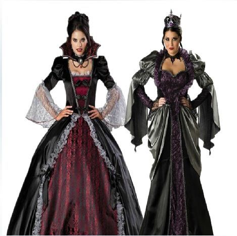 Masque Vrouwelijke Vampire Cosplay Jurken Halloween Uniformen Gothic Heks Kostuums Zombie koningin