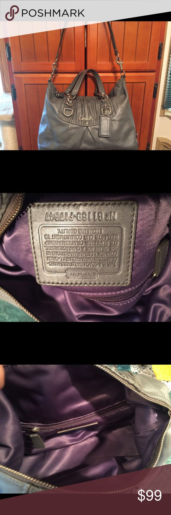 Authentic Ashley Coach Satchel Gathered Chain Never Carried Pristine Condition Authentic Ashley Coach Gathered Chain Satchel Leather #G1169-F17647 Must Have Very Rare!!! Coach Bags Satchels