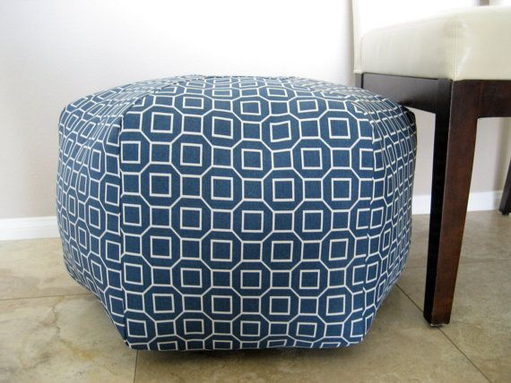 cute ottoman poof. Again would be nice in my living room with the  horizontal striped - 115 Best Ottomans & Poufs Images On Pinterest Ottomans, Poufs