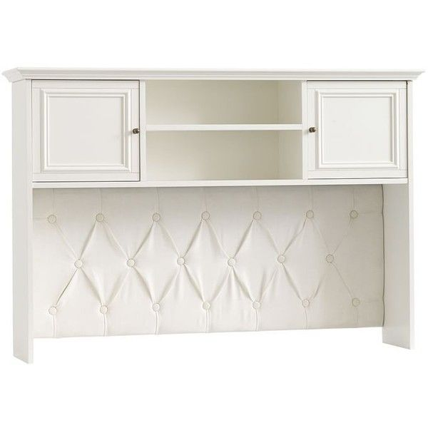 PB Teen Chelsea Corner Desk Hutch, Large, Simply White ($549) ❤ liked on Polyvore featuring home, furniture, desks, white desk, white hutch, half moon furniture, pbteen and storage furniture