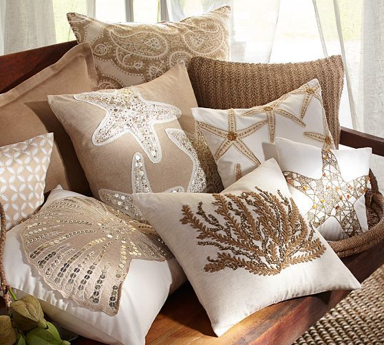 Caicos Starfish Embroidered Pillow Covers | Pottery Barn