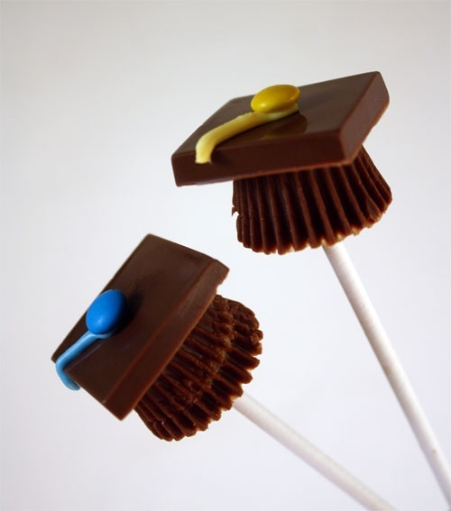 How to Make Candy Graduation Cap Pops