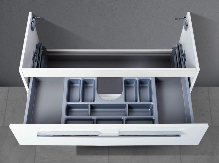 Waschtisch Unterschrank zu Duravit D-Code 105 cm, mit Kosmetikeinsatz Waschbeckenunterschrank Jetzt bestellen unter: moebel.ladendirek… #unterschrae