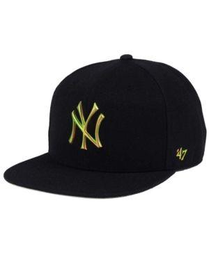 '47 Brand New York Yankees Iguana Captain Cap - Black Adjustable