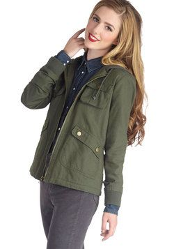 Take to the Lake Jacket in Green, #ModCloth