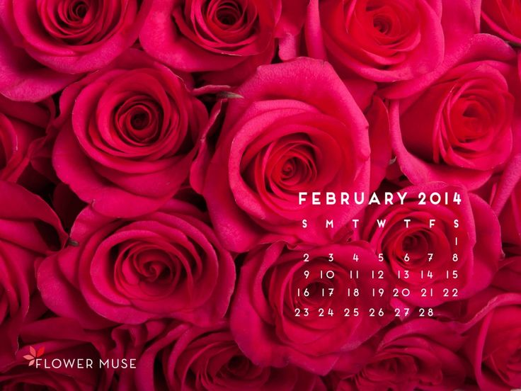 February 2014 Calendar - Download on Flower Muse Blog