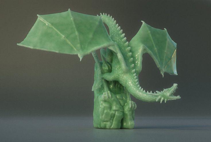 Jade Dragon by Piitas.deviantart.com on @deviantART