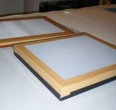 Build your own, silk screen frame, silkscreen printing, screen print frame, items from home / PCS