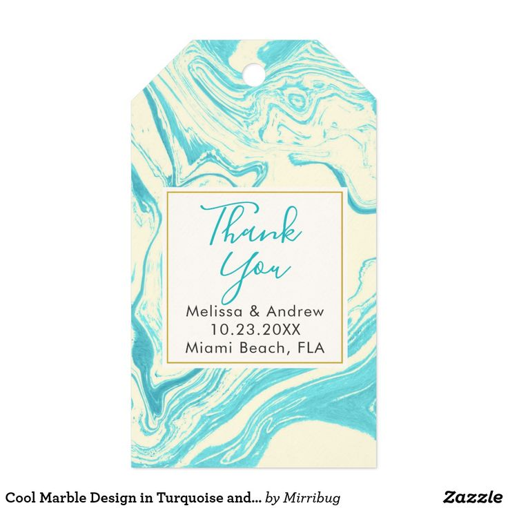 Cool Marble Design in Turquoise and Cream Wedding