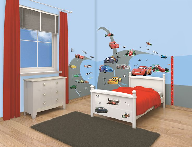 Every Bedroom Wall Becomes A Race Track With Our Disney Cars Bedroom Decor Kit