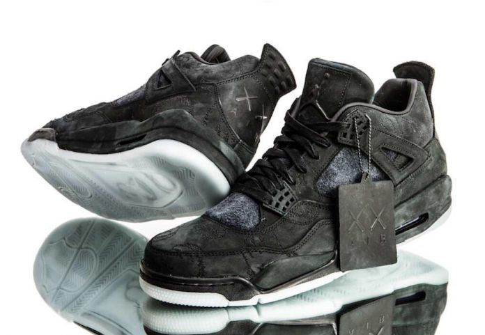 Detailed Look At The KAWS x Air Jordan 4 Black Releasing Cyber Monday