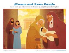 Simeon and Anna Puzzle | Kids Ministry Printable Activities