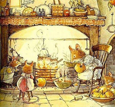 Warm by the fire - Jill Barklem...Brambly Hedge