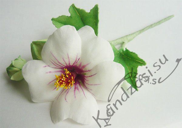 Мастер класс изготовления веточки хатьмы приморской (лаватеры) из фоамирана, включая цветок, бутоны и листья. Пошаговые фото.