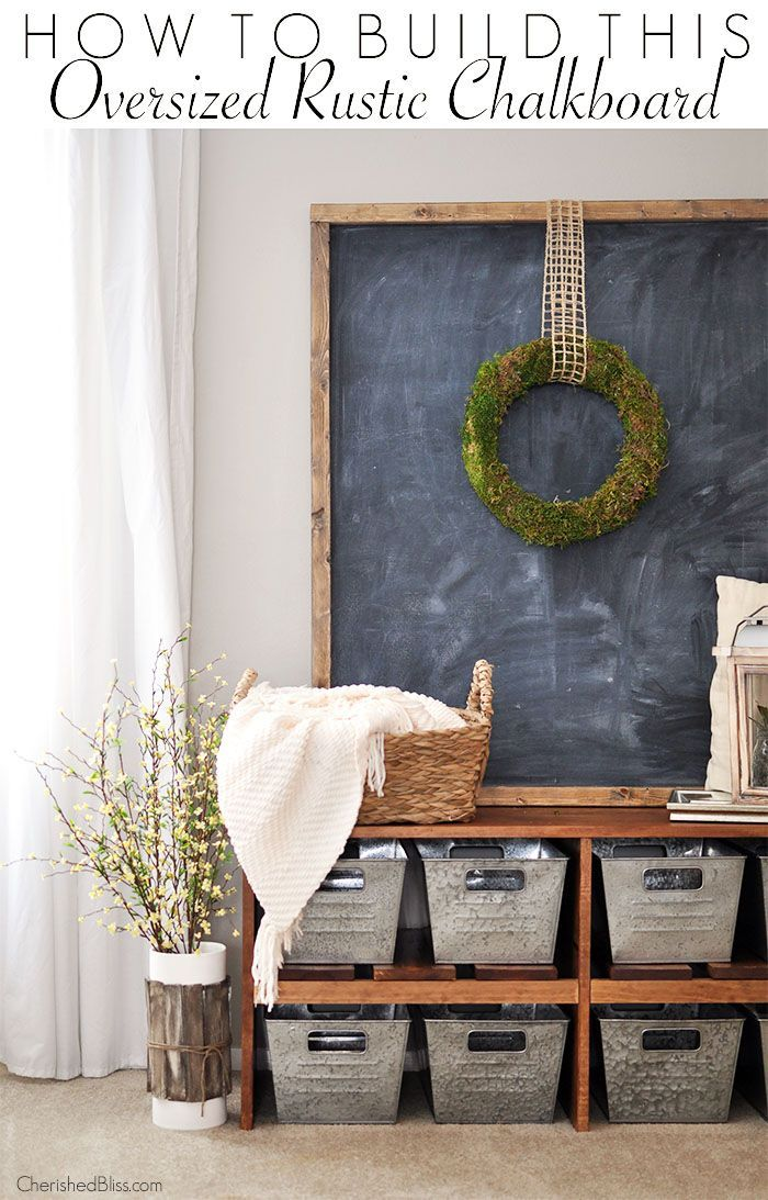 With just a few tools you can build this easy Oversized Rustic Chalkboard!