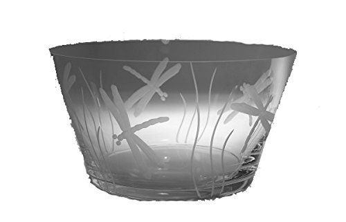 """This Dragonfly Large Glass Bowl would make a stunning addition to your dining set in your home, beach house, or bar. This large glass bowl measures approx. 10""""Dia. Makes a great gift! Adds that special tropical feel at your table. Dishwasher safe. However, please be careful with stemware... - http://kitchen-dining.bestselleroutlet.net/product-review-for-dragonfly-large-glass-bowl-10dia/"""