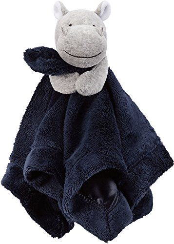 Carter's Hippo security blanket with rattle is soft and comfy to soothe the baby. It is the perfect size for the baby to cuddle.