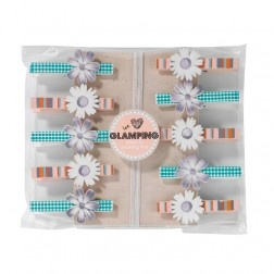 We Love Glamping Pegs and Washing Line from @partypieces
