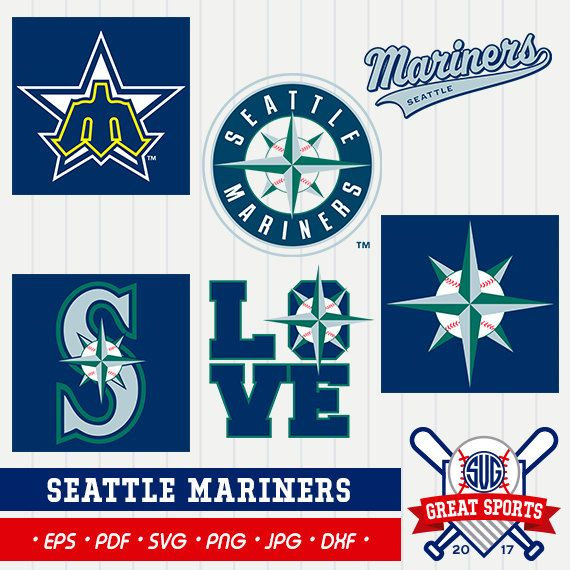 Seattle Mariners SVG, Seattle Beisball Clipart, Sreattle Mariners DXF, Baseball Clipart, Seattle Clipart, Clipart SVG, mb-24