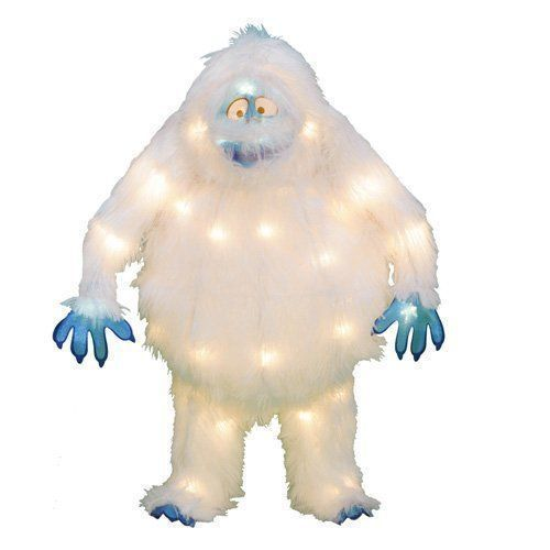 "18"" Pre-Lit Bumble Rudolph Abominable Snowman Yard Tinsel Sculpture NEW #HomeAccents"