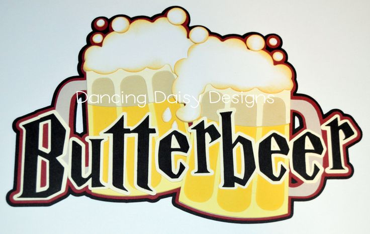 Harry Potter Scrapbook Die Cut,  The Wizarding World of Harry Potter, Butterbeer Title, Universal Studios Die cut - pinned by pin4etsy.com
