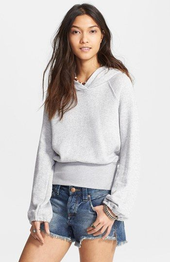 Free People 'Lone Ranger' Wide Band Hoodie available at #Nordstrom