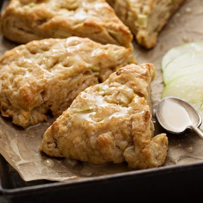 Decadent and easy Apple Scones! The perfect way to use up apples!