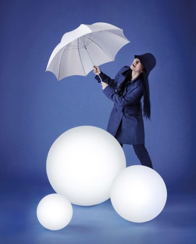 Easserfeste Outdoorkugeln Terrasse Slide Globo Novelty Lamp Lamp Ball Exercises