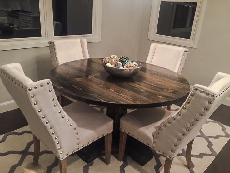 Best 25 round pedestal tables ideas on pinterest round tables farmhouse round dining table - White pedestal kitchen table ...