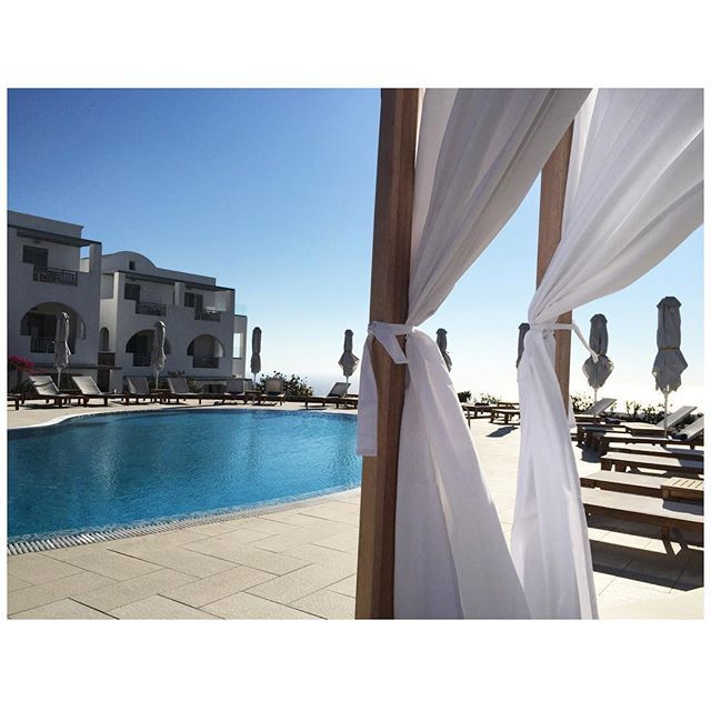"""‪#‎Santorini‬... We have arrived ♥"" A piece of paradise captured and shared by happy guest bitemystyle at Instagram. How about discovering yours, too?"