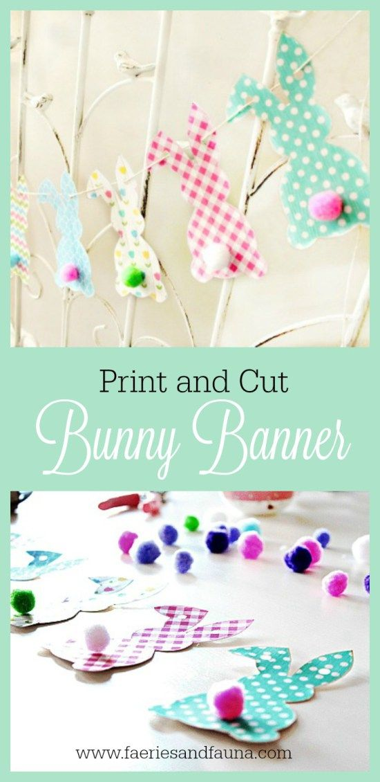 Free Easter Bunny Banner Printable - Of Faeries & Fauna Craft Co. - http://faeriesandfauna.com/2017/03/21/free-easter-bunny-banner/