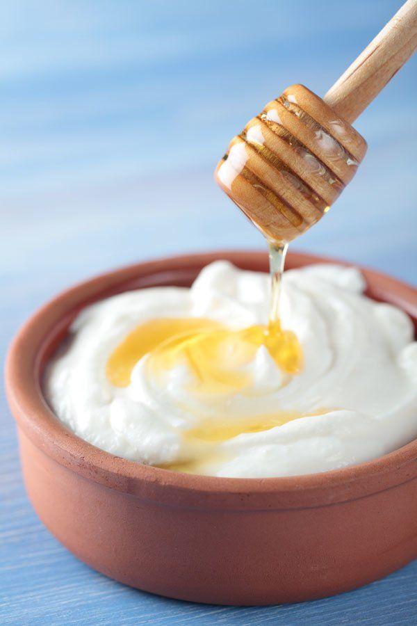 Joghurt Honig Maske