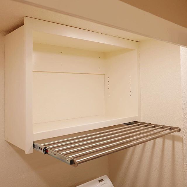 Whatkimdoes Brilliantly Hacked The Ikea Grundtal Drying Rack As A Pull Out Extension Beneath