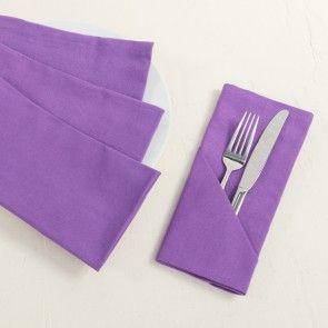 19 in. Cotton Napkins Lavender 4/pack