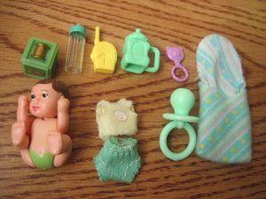 Happy Family Barbie Baby with Green Diaper | eBay
