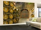 Oak Barrels Stacked Outside of Door at Ironstone Winery  Calaveras County  California  USA