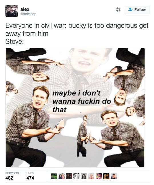 This explanation of Steve Rogers' behaviour throughout Civil War.