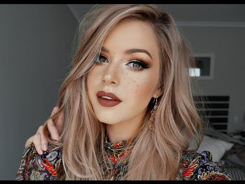 Rustic Boho & Faux Freckles Makeup Tutorial ♡ - YouTube