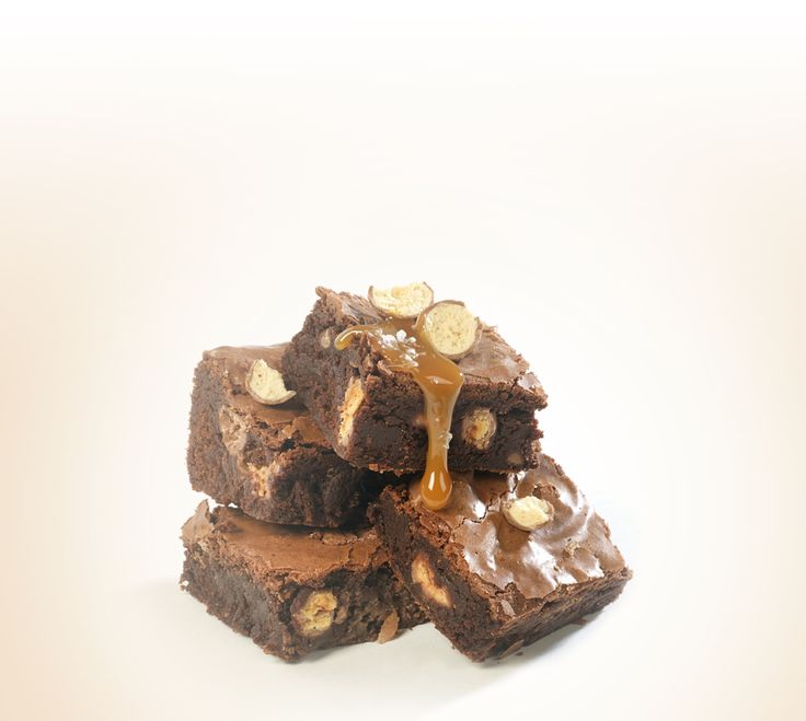Get the recipe for delicious Maltesers chocolate fudge brownies with salted caramel sauce for your bake sale and help #bakeamillion for Red Nose Day.