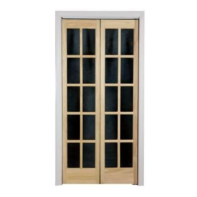 Pinecroft 36 In X 80 In Classic French Glass Wood