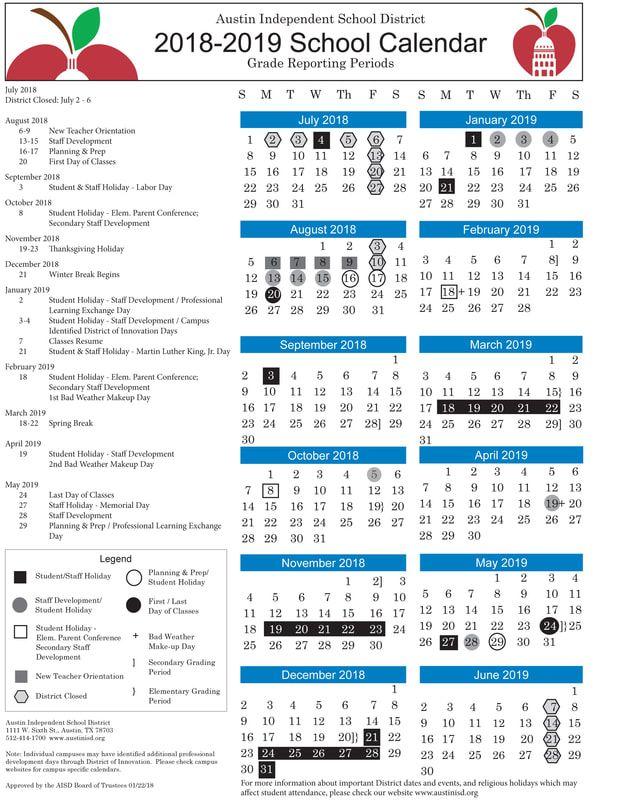 Austin Isd Calendar Printable Images Free Calendar Printables