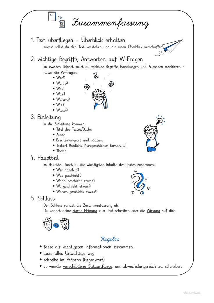 Zusammenfassung Schreiben Ubersicht Und Flipbook Unterrichtsmaterial Im Fach Deutsch Lernen Tipps Schule Deutsch Schreiben Lernen Schreiben Lernen