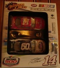 2009 Winner's Circle Limited Edition NASCAR Two Car Set Daytona 500 - #14 Tony Stewart Old Spice Impala SS, 1:64 Diecast     Car #1 - #14 Tony Stewart Old Spice Impala SS, 1:64 Diecast      Car #2 - 51st Running of Daytona Theme Car