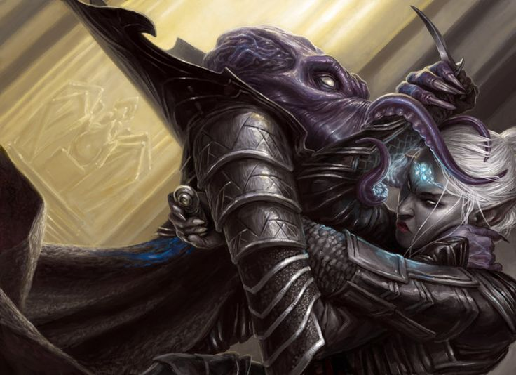 Drow vs Mindflayer Revised by artpox on deviantART