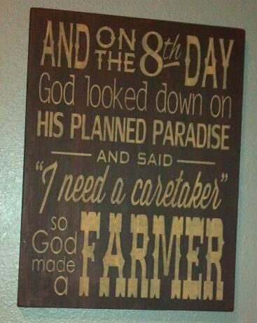 God Made A Farmer Large Primitive Wooden Sign by AlishaDCP on Etsy, $75.00