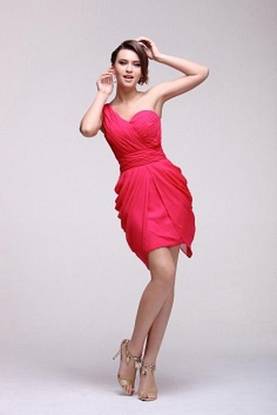 Chiffon Modern One-shoulder Bridesmaids Dresses wr2768 - http://www.weddingrobe.co.uk/chiffon-modern-one-shoulder-bridesmaids-dresses-wr2768.html - NECKLINE: One-shoulder. FABRIC: Chiffon. SLEEVE: Sleeveless. COLOR: Pink. SILHOUETTE: Sheath/Column. - 90.5