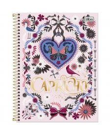 imagem principal do produto Caderno Espiral Capa Dura Universitário 20 Matérias Capricho - 400 Folhas