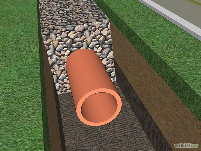 Build a French Drain with pictures and video