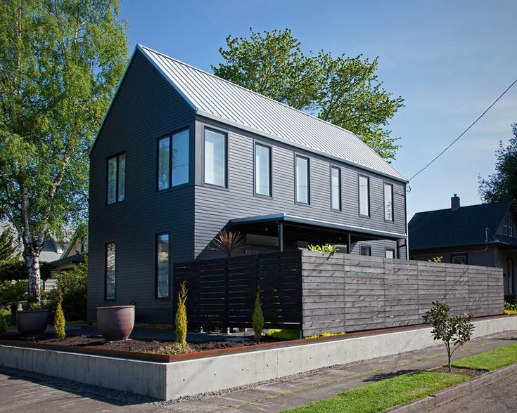 A gabled house in Portland, Oregon. Modern and traditional.