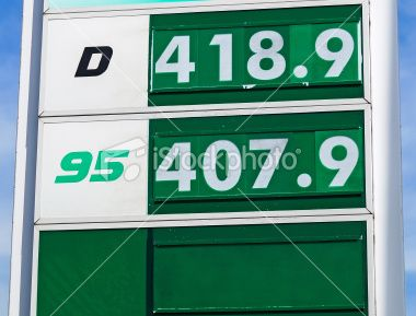 Prices of the gas station Royalty Free Stock Photo
